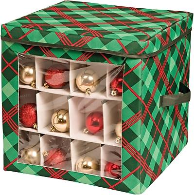 Honey Can Do Plaid Ornament Storage Cube (SFT-07752)