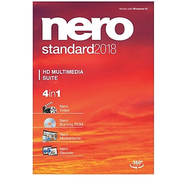 Nero Standard 2018 for Windows (1 User) [Download]