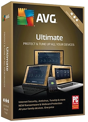 AVG Ultimate 2018, Unlimited 1 Year for Windows/Mac (1-1000 Users) [Download]