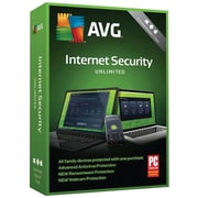 AVG Internet Security 2018, Unlimited 1 Year for Windows/Mac (1-1000 Users) [Download]