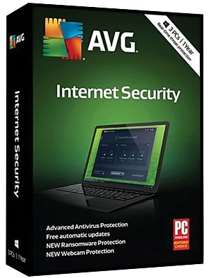 AVG Internet Security 2018, 3 PC 1 Year for Windows (1-3 Users) [Download]