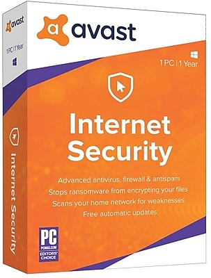 Avast Internet Security 2018, 1 PC 1 Year for Windows (1 User) [Download]