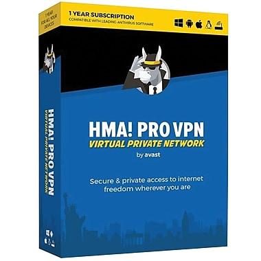 Avast HMA PRO VPN 2018, 1 Year for Windows (1 User) [Download]