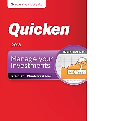 Quicken Premier 2018- 2 Year for Windows/Mac (1 User) [Download]