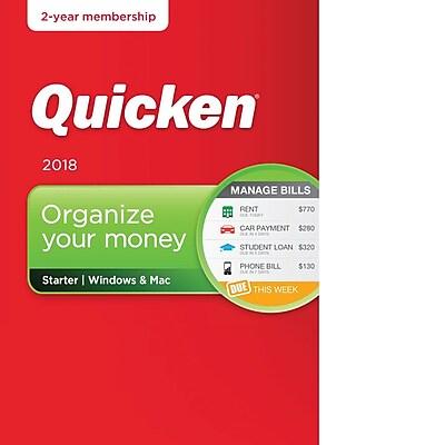 Quicken Starter 2018- 2 Year for Windows/Mac (1 User) [Download]
