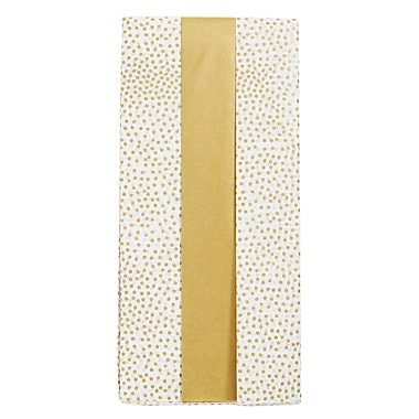 DwellStudio Tissue Paper, Gold & Gold Dots, 12/Pack (51730)