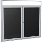 """Ghent 2-Door Enclosed Letter Board with Headliners, 36""""W x 48""""H"""