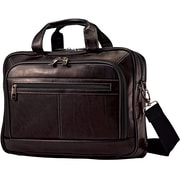 SAMSONITE LEATHER TOP ZIP CASE 16 BROWN
