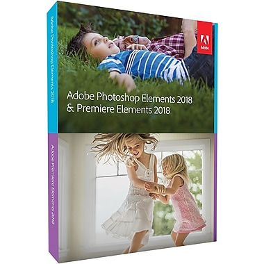 Adobe Photoshop Elements & Premiere Elements 2018 for Windows/Mac (1 User) [Boxed]