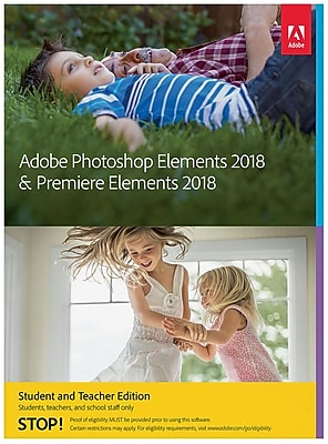 Adobe Photoshop Elements 18 & Premiere Elements 18 Student and Teacher Edition for Windows (1 User) [Download]