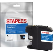 Staples® Reman Black Inkjet Cartridge Brother LC-203XL (LC203BK), High Yield