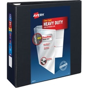 "Avery Heavy-Duty View Binder with 4"" One Touch EZD Rings, Black (79604)"
