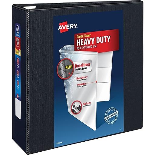 avery heavy duty 4 inch slant d 3 ring view binder black 79 604