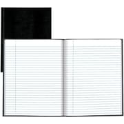 """Blueline Executive Business Journal, Black Lizard Look Hardbound Cover, 150 Pages / 75 Sheets,  11"""" x 8-1/2"""""""