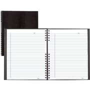 "BlueLine® NotePro® Business Notebook, Black Hard Lizard Look Cover, Twin-Wire Binding, 200 Pages / 100 Sheets, 11"" x 8-1/2"""