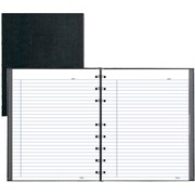 """Blueline® NotePro® Business Notebook, Black Hard Lizard Look Cover, Twin-WireBound, 7-1/4""""x9-1/4"""", College Ruled, White, 150 Pgs"""