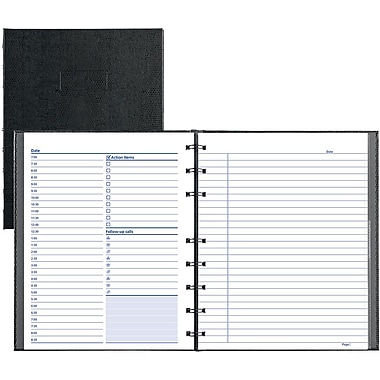 Blueline® College Rule NotePro Undated Daily Planner, 8-1/2x11