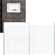"Blueline Business Notebook, Flexible Soft Lizard Look Cover, Twin Wire, 160 Pages / 80 Sheets, 8"" x 5"""