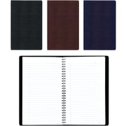 "Blueline Business Notebook, Flexible Soft Lizard Look Cover, Twin Wire,160 Pages / 80 Sheets, 11"" x 8-1/2"""