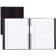 "BlueLine® NotePro® Pink Ribbon Executive Notebook, Black, 9-1/4"" x 7-1/4"""