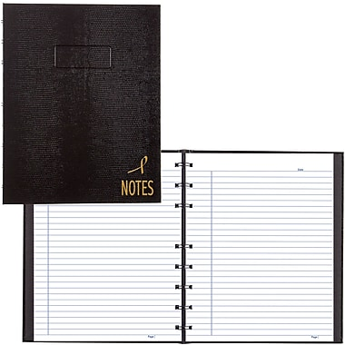 BlueLine® NotePro® Pink Ribbon Executive Notebook, Black, 9-1/4