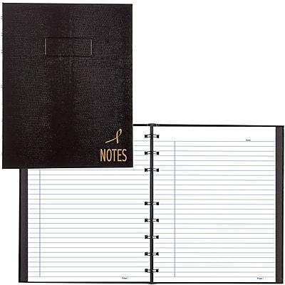 BlueLine® NotePro® Pink Ribbon Business Notebook, Black, 9-1/4
