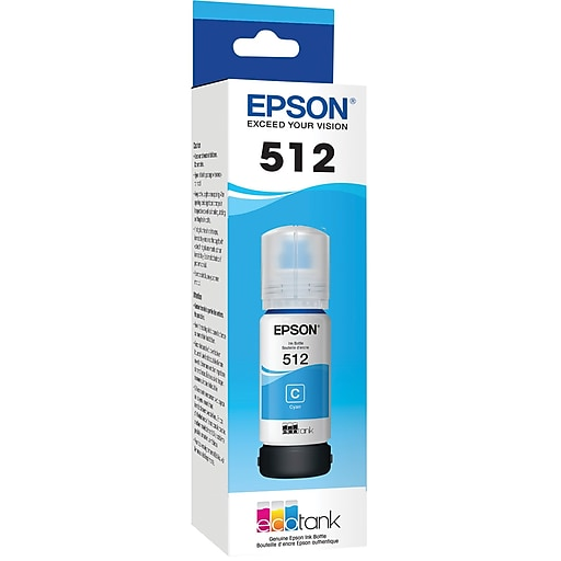 Epson 512 Cyan Ink Cartridge, Standard Yield