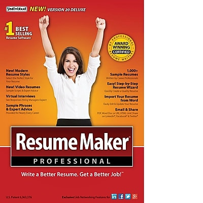 resumemaker professional deluxe 20 for windows  1 user