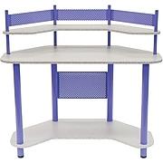 "Studio Designs™ 42"" Study Corner Desk With Shelves, Purple/Gray (55121)"