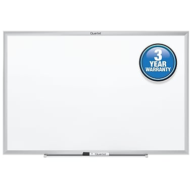 Quartet® Standard Whiteboard, 4' x 3', Silver Aluminum Frame (S534)