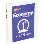 "Avery Economy View Binder with 1"" Round Ring, White  (5711)"