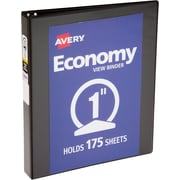 "Avery Economy View Binder with 1"" Round Ring, Black (5710)"
