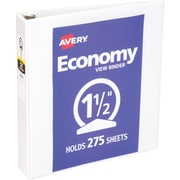 Avery® Economy 1.5-Inch Round Ring View Binder (5726)