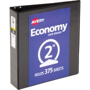 "Avery Economy View Binder with 2"" Round Ring, Black (5730)"