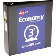 "Avery Economy View Binder with 3"" Round Ring, Black (5740)"