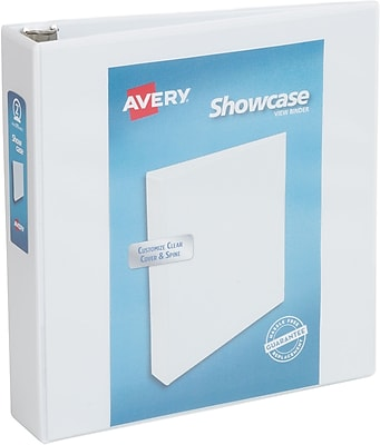 Avery Showcase 2Inch Round 3Ring View Binder White 19701 Staples