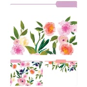 Eccolo Floral Top Tab File Folders, Letter Size, 3 Tab, 9/Pack (ST617C)