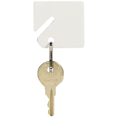 MMF Industries™ STEELMASTER® Slotted Rack Key Tags, White, 1 1/2