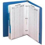 MMF Industries™ STEELMASTER® Dupli-Key® Cross Reference Index Binder, Blue
