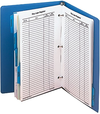 MMF Industries™ STEELMASTER® Dupli-Key® Cross Reference Index Binder, Blue