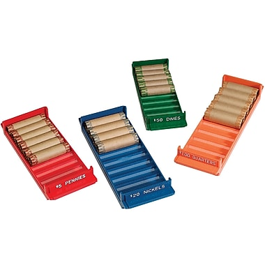 MMF Industries™ Porta-Count® Rolled-Coin Storage Tray, Gray, $200 Dollars, 1 3/4