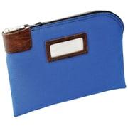 "MMF Industries™ Locking Night Deposit Bag, Royal Blue, Durablock® 600 Denier Laminated Polyester, 8 1/2""H x 11""W"