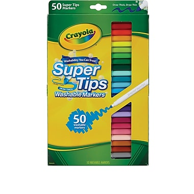 Crayola® Washable Super Tips w/ Silly Scents, 50/Pack