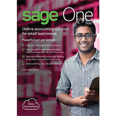 Sage One Start U.S. 1 YR Subscription for Windows (1 User) [Download]