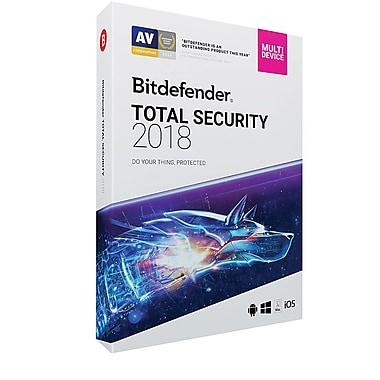 Bitdefender Total Security 2018 5 User 1 Year for Windows (1-5 Users) [Download]