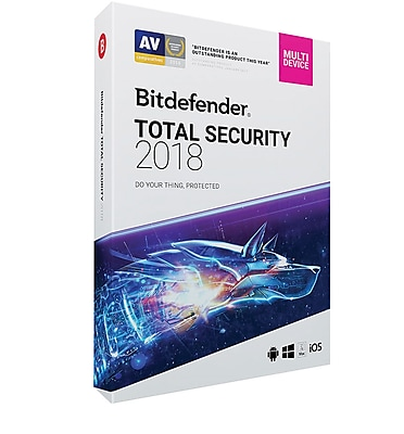 Bitdefender Total Security 2018 5 User 3 Year for Windows (1-5 Users) [Download]