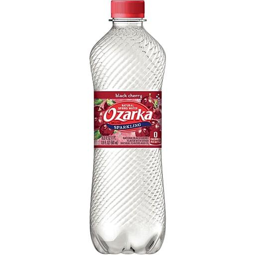 e59f9822cf OZARKA Brand Sparkling Natural Spring Water, Black Cherry 16.9-ounce  Plastic Bottle, 24/Case   Staples