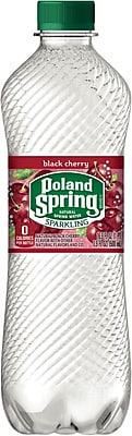 Poland Spring Sparkling Natural Spring Water, Black Cherry, 16.9 oz., 24/Ct
