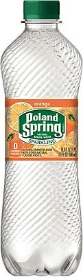Poland Spring® Brand Sparkling Natural Spring Water, Orange, 16.9-ounce Plastic Bottle, 24/Case