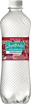Zephyrhills Sparkling Natural Spring Water, Black Cherry, 16.9 oz., Pack of 24 (12241122)
